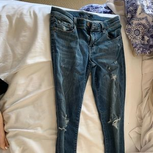Size 26 J Brand Cropped ripped jeans